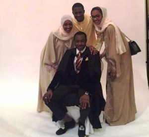Yusuf Buhari And Sisters Attend His Best Friend